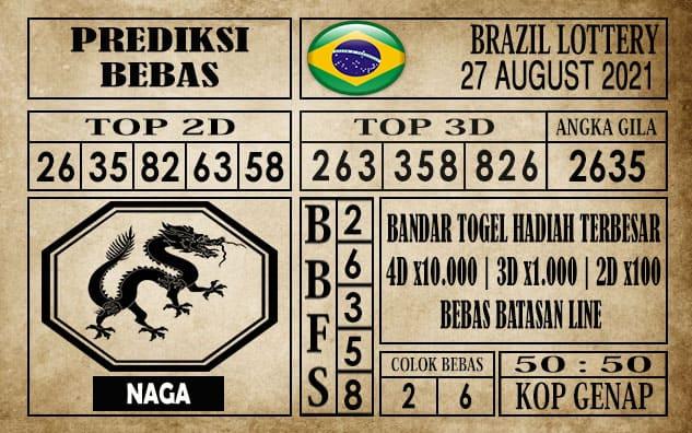Prediksi Brazil Lottery Hari Ini 27 Agustus 2021
