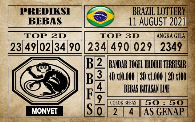 Prediksi Brazil Lottery Hari Ini 11 Agustus 2021
