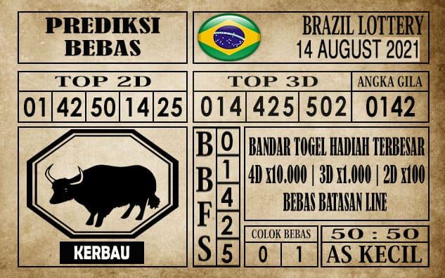 Prediksi Brazil Lottery Hari Ini 14 Agustus 2021