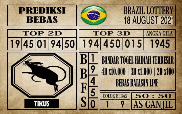 Prediksi Brazil Lottery Hari Ini 18 Agustus 2021