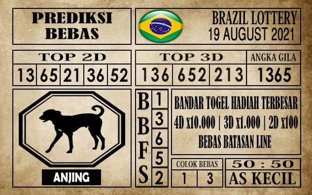Prediksi Brazil Lottery Hari Ini 19 Agustus 2021