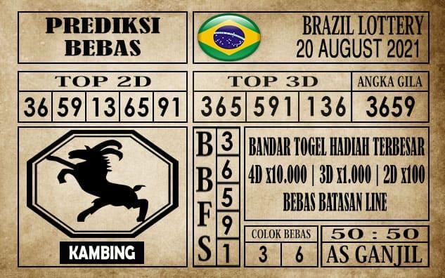 Prediksi Brazil Lottery Hari Ini 20 Agustus 2021