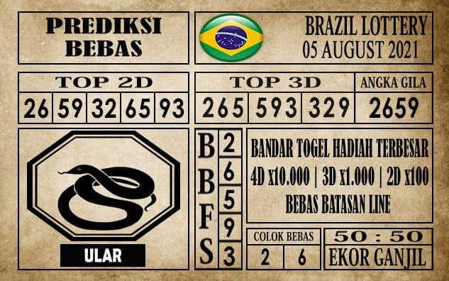 Prediksi Brazil Lottery Hari Ini 05 Agustus 2021