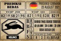 Prediksi Germany Hari Ini 23 Agustus 2021