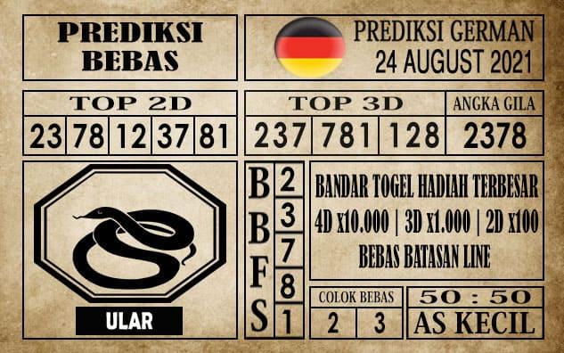 Prediksi Germany Hari Ini 24 Agustus 2021