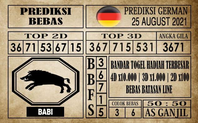 Prediksi Germany Hari Ini 25 Agustus 2021