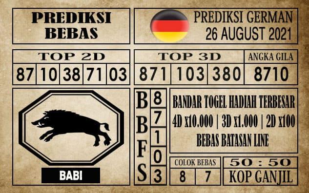Prediksi Germany Hari Ini 26 Agustus 2021