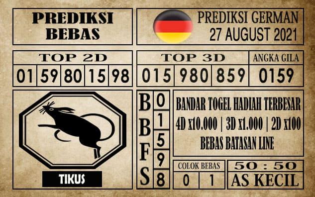 Prediksi Germany Hari Ini 27 Agustus 2021