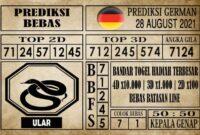 Prediksi Germany Hari Ini 28 Agustus 2021