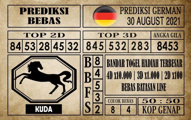 Prediksi Germany Hari Ini 30 Agustus 2021