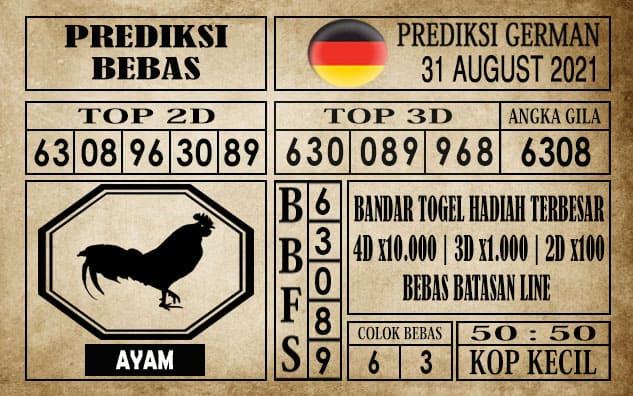 Prediksi Germany Hari Ini 31 Agustus 2021