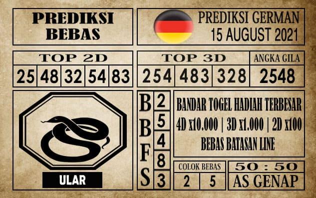 Prediksi Germany Hari Ini 15 Agustus 2021