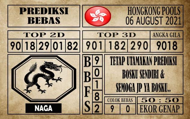 Prediksi Hongkong Pools Hari Ini 06 Agustus 2021