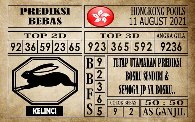 Prediksi Hongkong Pools Hari Ini 11 Agustus 2021
