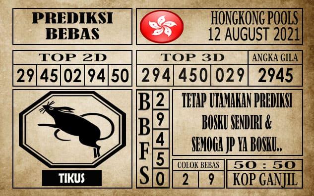 Prediksi Hongkong Pools Hari Ini 12 Agustus 2021