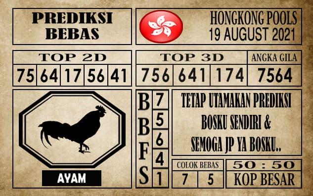 Prediksi Hongkong Pools Hari Ini 19 Agustus 2021