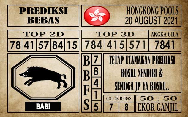 Prediksi Hongkong Pools Hari Ini 20 Agustus 2021