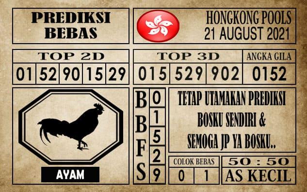 Prediksi Hongkong Pools Hari Ini 21 Agustus 2021