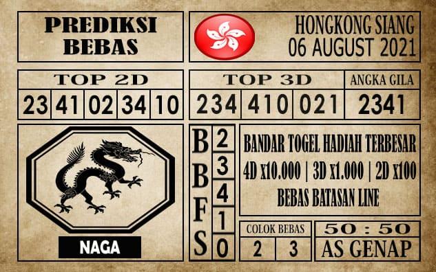 Prediksi Hongkong Siang Hari Ini 06 Agustus 2021