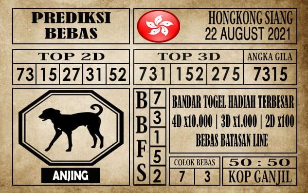 Prediksi Hongkong Siang Hari Ini 22 Agustus 2021
