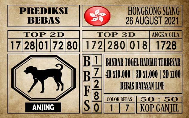 Prediksi Hongkong Siang Hari Ini 26 Agustus 2021