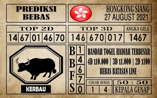 Prediksi Hongkong Siang Hari Ini 27 Agustus 2021