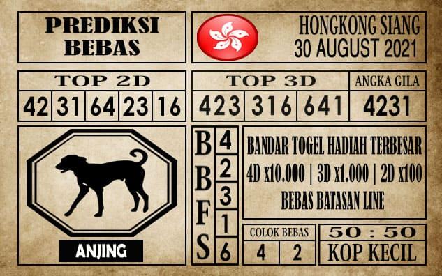Prediksi Hongkong Siang Hari Ini 30 Agustus 2021