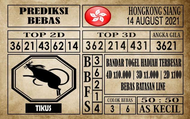 Prediksi Hongkong Siang Hari Ini 14 Agustus 2021