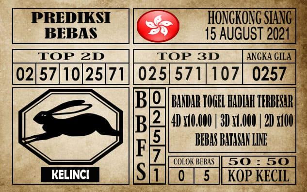 Prediksi Hongkong Siang Hari Ini 15 Agustus 2021