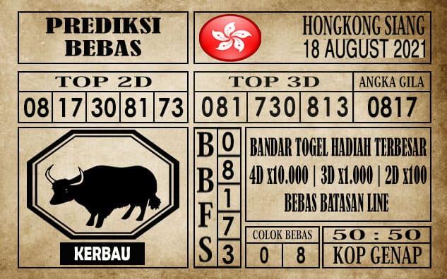 Prediksi Hongkong Siang Hari Ini 18 Agustus 2021