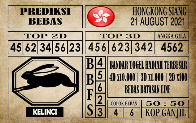 Prediksi Hongkong Siang Hari Ini 21 Agustus 2021