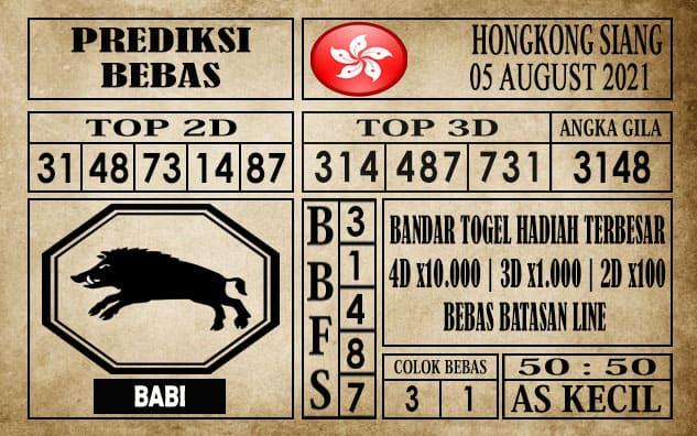 Prediksi Hongkong Siang Hari Ini 05 Agustus 2021
