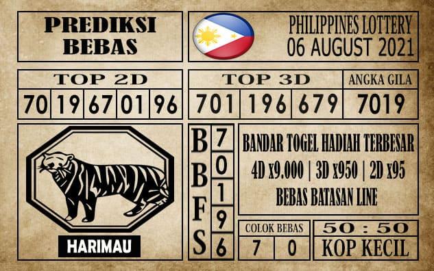 Prediksi Filipina PCSO Hari Ini 06 Agustus 2021