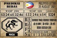 Prediksi Filipina PCSO Hari Ini 25 Agustus 2021
