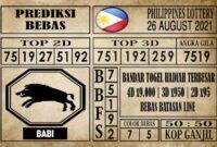 Prediksi Filipina PCSO Hari Ini 26 Agustus 2021