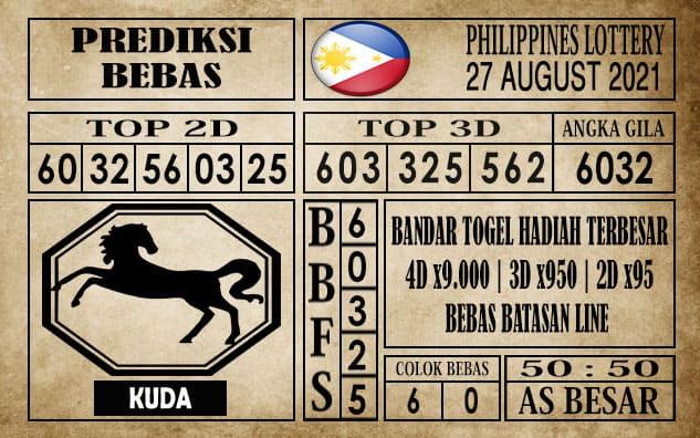 Prediksi Filipina PCSO Hari Ini 27 Agustus 2021