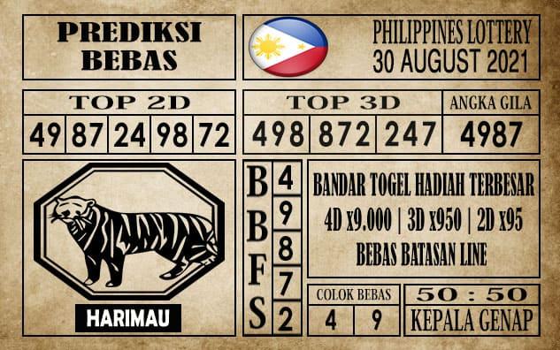 Prediksi Filipina PCSO Hari Ini 30 Agustus 2021