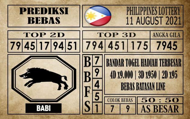 Prediksi Filipina PCSO Hari Ini 11 Agustus 2021