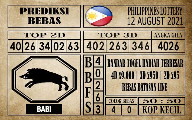 Prediksi Filipina PCSO Hari Ini 12 Agustus 2021