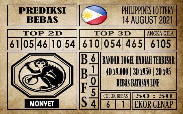 Prediksi Filipina PCSO Hari Ini 14 Agustus 2021