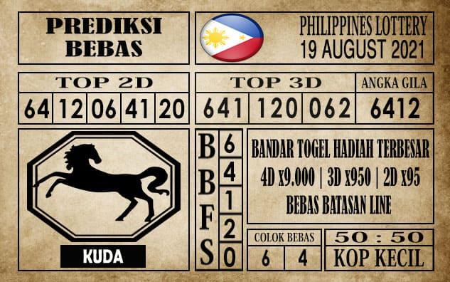 Prediksi Filipina PCSO Hari Ini 19 Agustus 2021