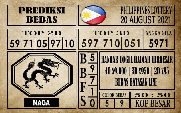 Prediksi Filipina PCSO Hari Ini 20 Agustus 2021