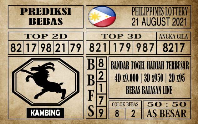 Prediksi Filipina PCSO Hari Ini 21 Agustus 2021