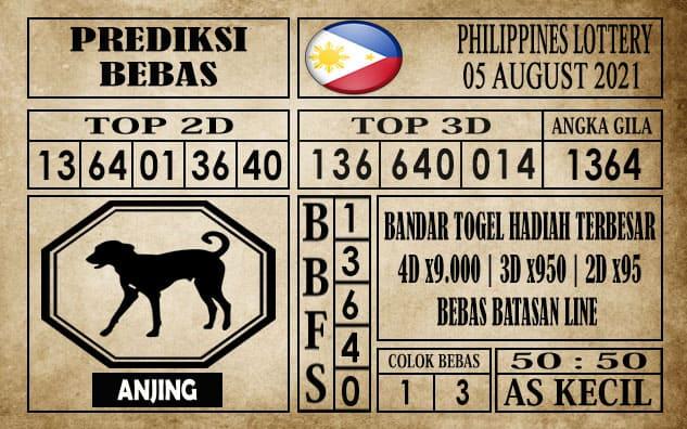 Prediksi Filipina PCSO Hari Ini 05 Agustus 2021
