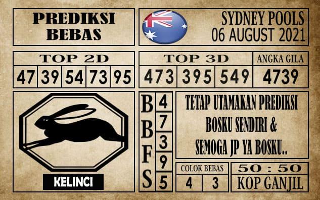 Prediksi Sydney Pools Hari Ini 06 Agustus 2021