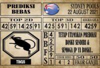 Prediksi Sydney Pools Hari Ini 22 Agustus 2021