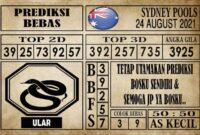 Prediksi Sydney Pools Hari Ini 24 Agustus 2021