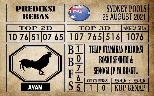 Prediksi Sydney Pools Hari Ini 25 Agustus 2021