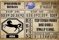 Prediksi Sydney Pools Hari Ini 27 Agustus 2021