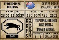 Prediksi Sydney Pools Hari Ini 29 Agustus 2021